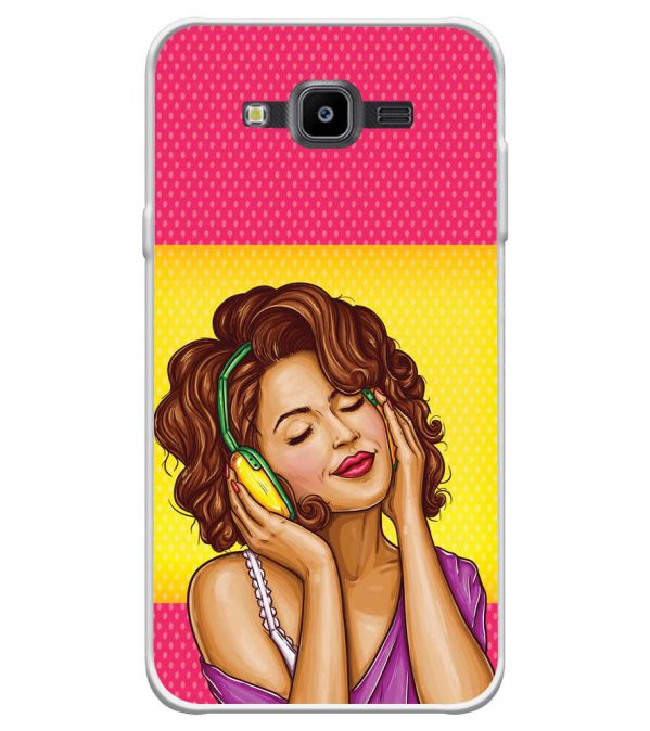 Music Girl Soft Silicone Back Cover for Samsung Galaxy J7 Nxt