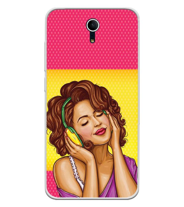 Music Girl Soft Silicone Back Cover for Swipe Elite Plus