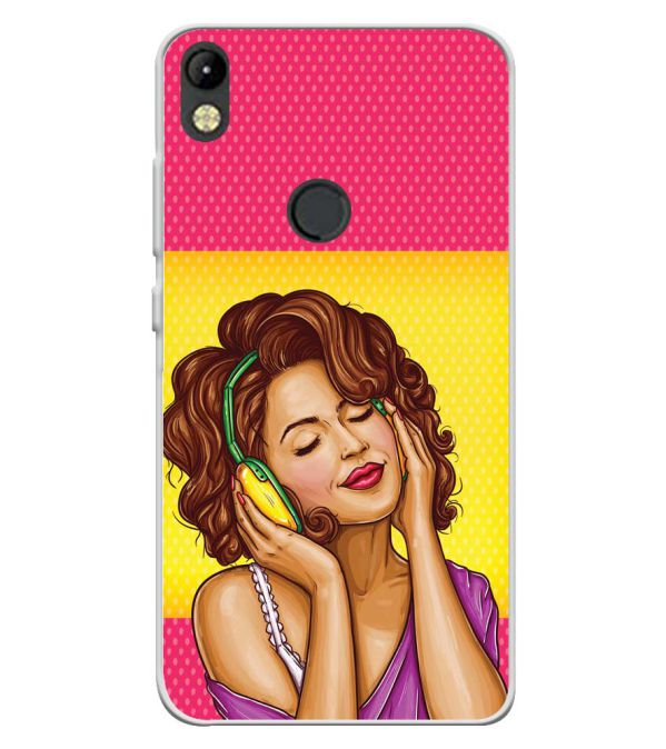 Music Girl Soft Silicone Back Cover for Tecno Camon I