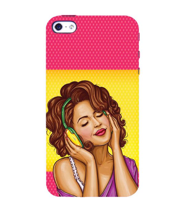 Music Girl Back Cover for Apple iPhone 4 : 4S