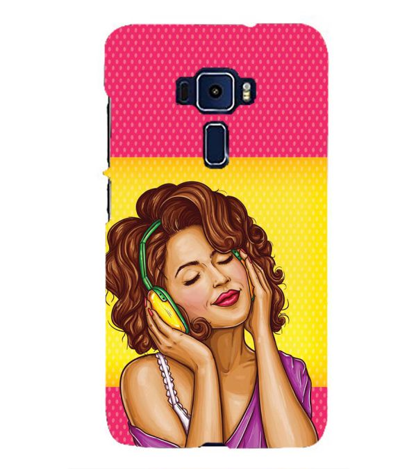 Music Girl Back Cover for Asus Zenfone 3 ZE552KL