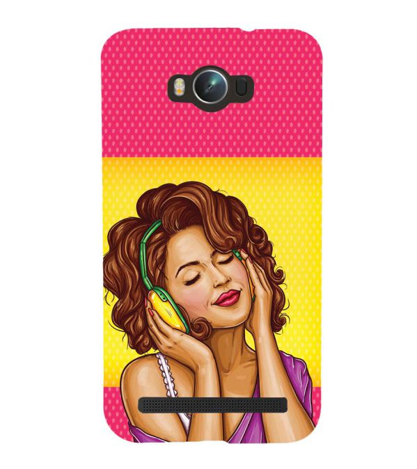 Music Girl Back Cover for Asus Zenfone Max ZC550KL