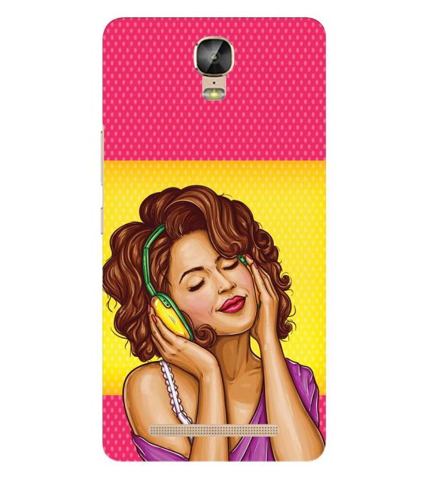 Music Girl Back Cover for Gionee Marathon M5 Plus
