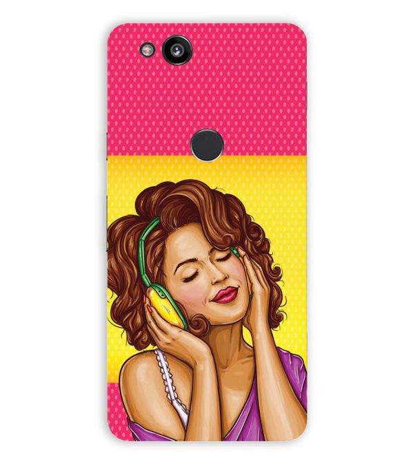 Music Girl Back Cover for Google Pixel 2 (5 Inch Screen)
