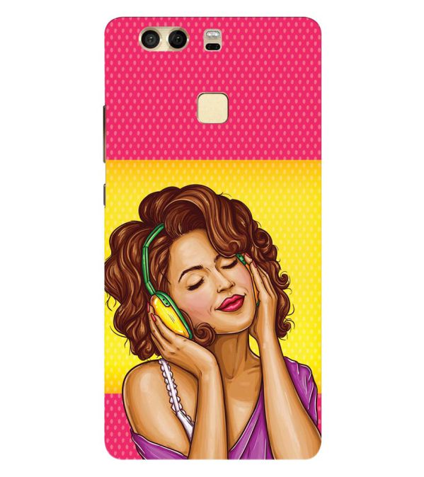 Music Girl Back Cover for Huawei P9