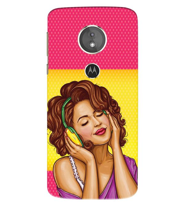 Music Girl Back Cover for Motorola Moto E5 Play