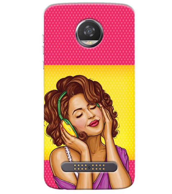 Music Girl Back Cover for Motorola Moto Z3 Play