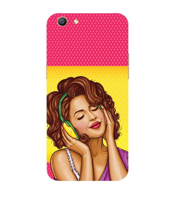 Music Girl Back Cover for Oppo A57 : A39