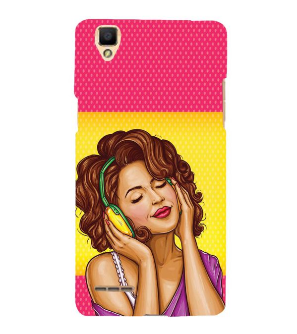 Music Girl Back Cover for Oppo F1