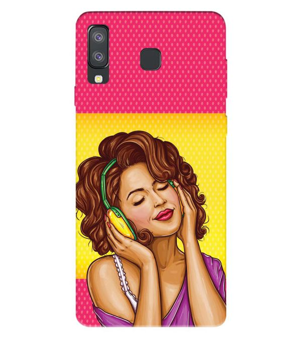 Music Girl Back Cover for Samsung Galaxy A8 Star