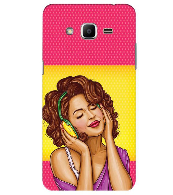 Music Girl Back Cover for Samsung Galaxy J2 Ace