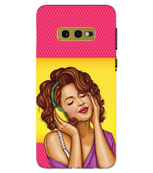 Music Girl Back Cover for Samsung Galaxy S10e (5.8 Inch Screen)