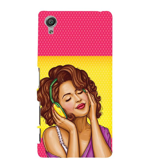 Music Girl Back Cover for Sony Xperia X