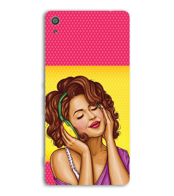 Music Girl Back Cover for Sony Xperia XA Ultra