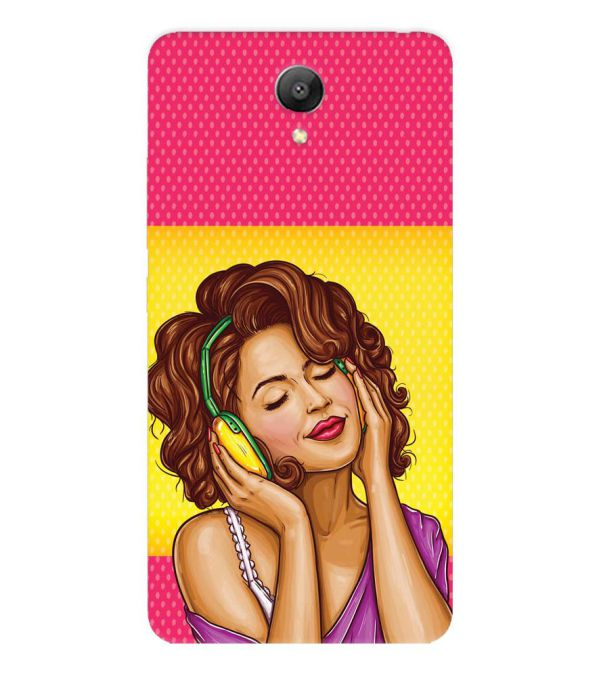 Music Girl Back Cover for Xiaomi Redmi Note 2