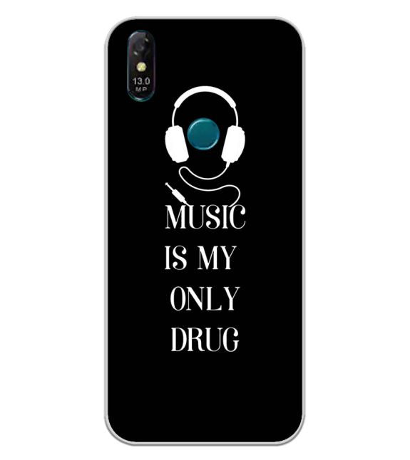 Music Is My Only Drug Back Cover for Coolpad Cool 3 Plus-Image3