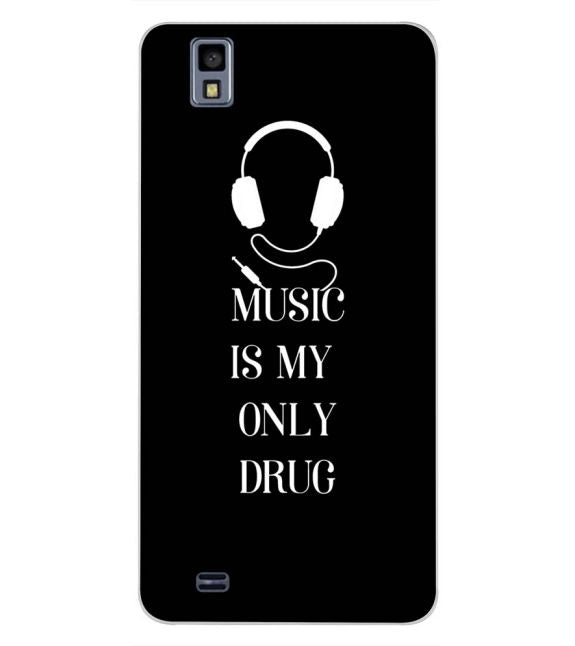Music Is My Only Drug Back Cover for Gionee Pioneer P2M-Image3