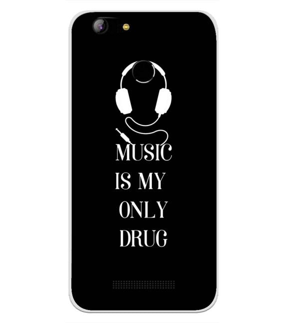 Music Is My Only Drug Back Cover for Intex Aqua Lions X1-Image3