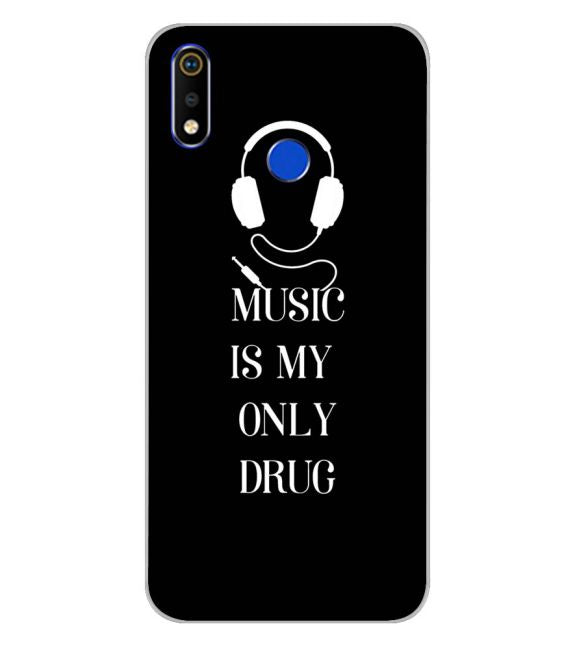 Music Is My Only Drug Back Cover for Realme 3i-Image3