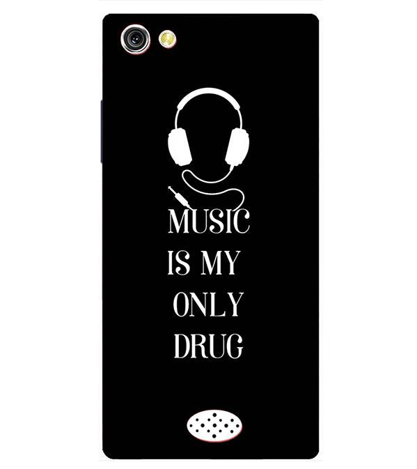 Music Is My Only Drug Back Cover for Oppo Neo 5