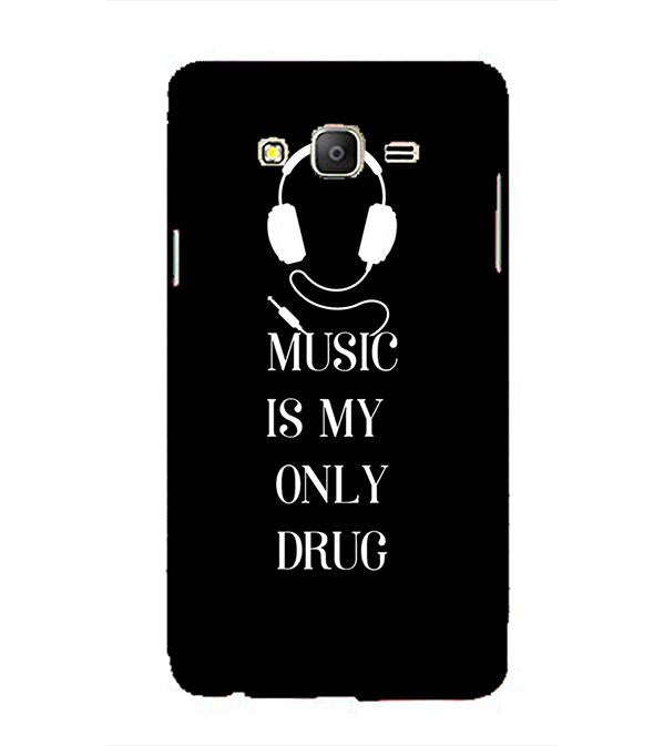Music Is My Only Drug Back Cover for Samsung Galaxy On5 and On5 Pro