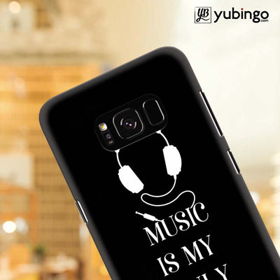 Music Is My Only Drug Back Cover for Samsung Galaxy S8 Plus-Image4