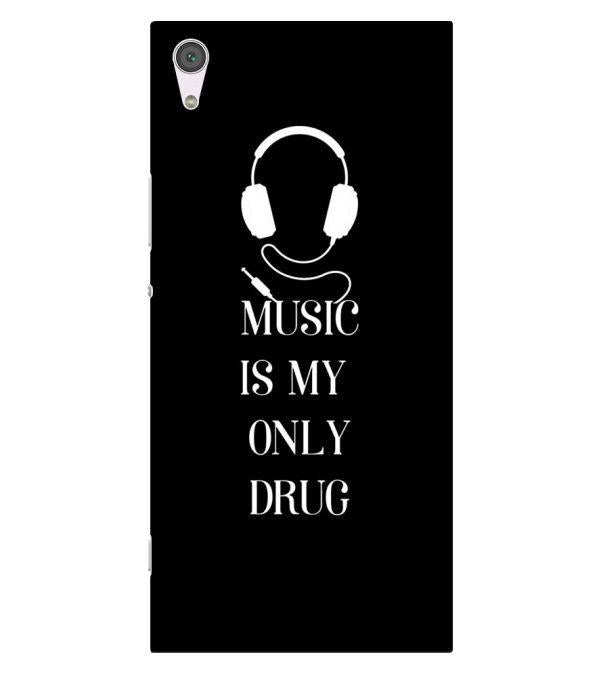 Music Is My Only Drug Back Cover for Sony Xperia XA1