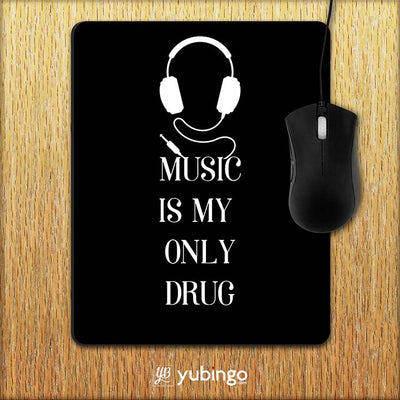 Music Is My Only Drug Mouse Pad-Image2