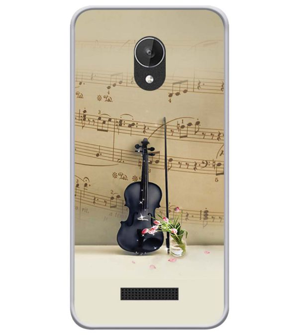 Musical Tone Soft Silicone Back Cover for Micromax Spark Q380