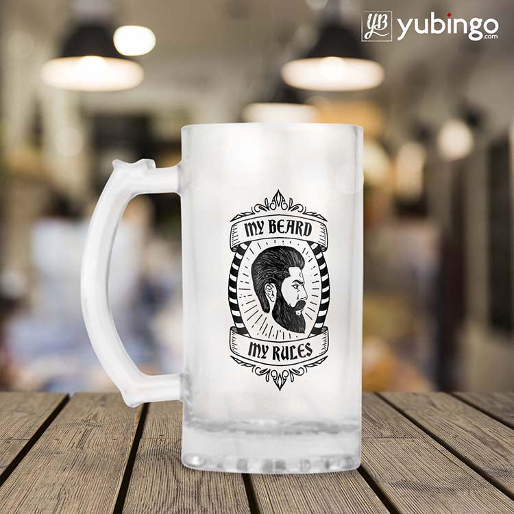 My Beard My Rules Beer Mug