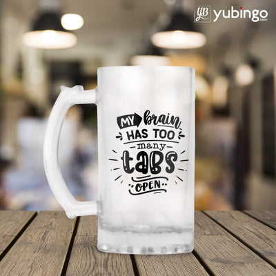 My Brain Has Too Many Tabs Open Beer Mug-Image3