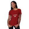 My Height Is Cute Women T-Shirt-Maroon