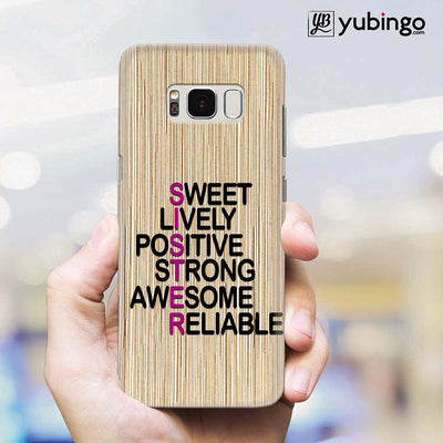 My Sister is Awesome Back Cover for Samsung Galaxy S8 Plus-Image2