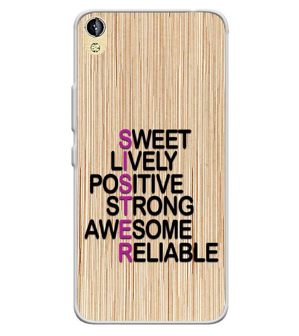 detailed look e399c 80c22 My Sister is Awesome Soft Silicone Back Cover for Infinix Smart 2