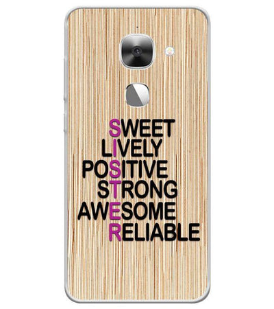 Best Sister In The World Back Cover for LeEco Le 2s-Image4