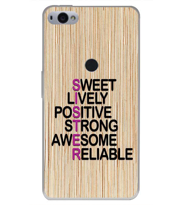innovative design 10716 d5be8 My Sister is Awesome Back Cover for Smartron SRT Phone