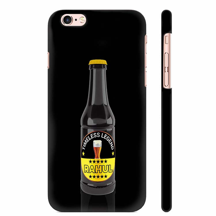 best website fcc5a 658b0 Name on Bottle Back Cover for Apple iPhone 6 Plus and iPhone 6S Plus