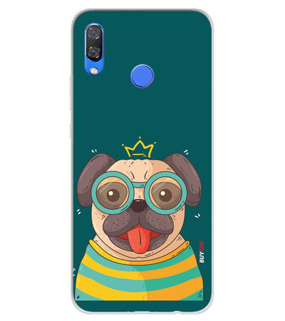 Naughty Pug Soft Silicone Back Cover for Huawei Y9 (2019)