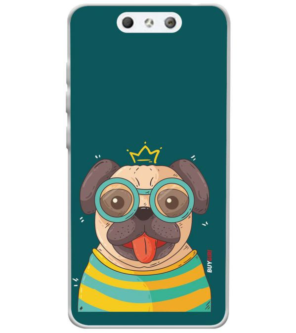 Naughty Pug Soft Silicone Back Cover for LYF Earth 1