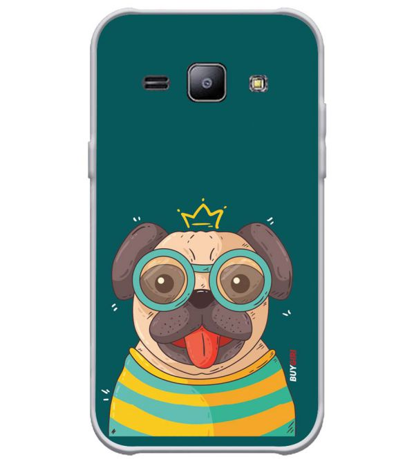 new concept ed1d4 7a5c1 Naughty Pug Soft Silicone Back Cover for Samsung Galaxy J1 4G