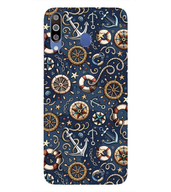 Nautical Blue Back Cover for Samsung Galaxy M30