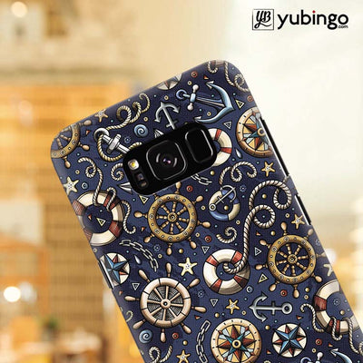 Nautical Blue Back Cover for Samsung Galaxy S8 Plus-Image4