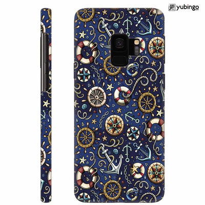Nautical Blue Back Cover for Samsung Galaxy S9