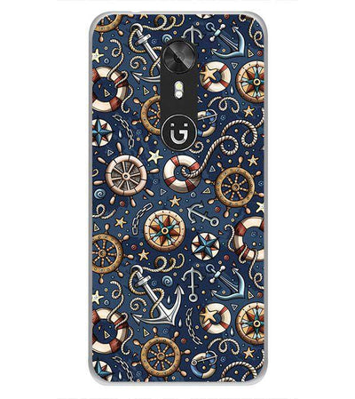 Nautical Blue Back Cover for Gionee A1