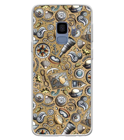 Nautical Brown Back Cover for Samsung Galaxy S9