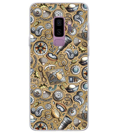 Nautical Brown Back Cover for Samsung Galaxy S9+ (Plus)