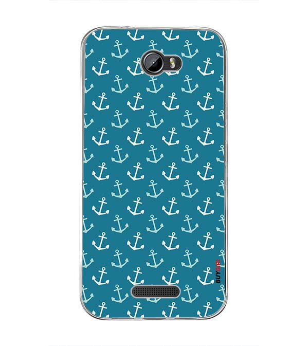 Nautical Pattern Back Cover for Intex Lion 3