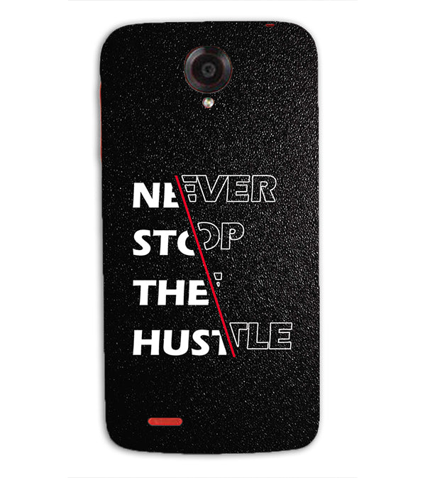 Never Stop Hustle Back Cover for Lenovo S820