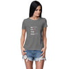 Never Stop Hustle Women T-Shirt-Grey Melange