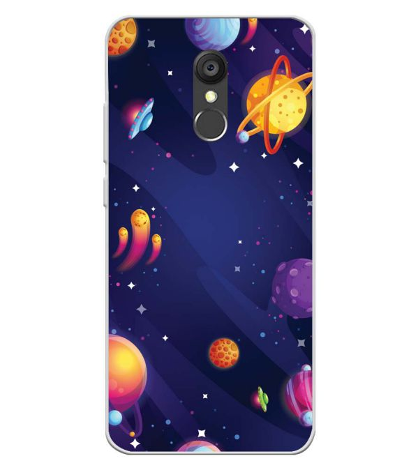 New Galaxy Soft Silicone Back Cover for Panasonic Eluga Ray 550